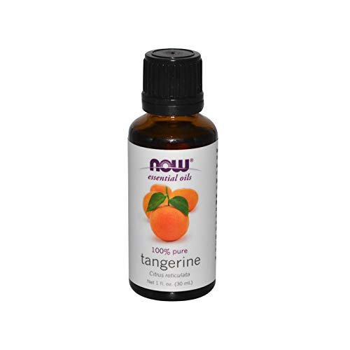 (NOW Essential Oils, Tangerine Oil, Uplifting Aromatherapy, Cold Pressed, 100% Pure, Vegan, 1-Ounce)