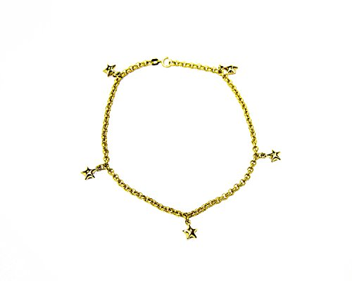 Genuine 14 k yellow gold anklet bracelet 10'' by Temecula
