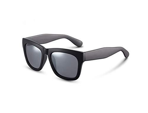 Driver Sol De Mirror Scrub Retro Silver Black Gafas liwenjun Polarizadas XZFqBxw