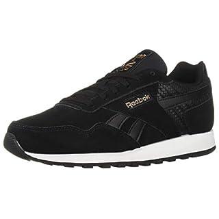 Reebok Women's Classic Leather Harman Run Sneaker, Black/White/Rose Gold, 6.5 M US