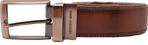 Geoffrey Beene Men's Contrast Stitch Reversible Belt, Brown/Brown, 40 ()