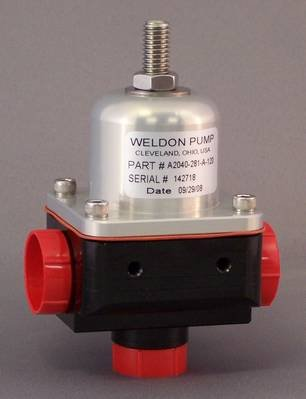 Weldon Racing 2040-281-A-120 Series Bypass Fuel Pressure Regulator (-10 Inlet and -8 Outlet)
