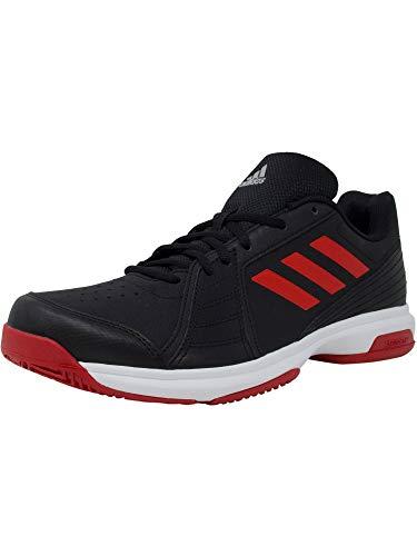 adidas Performance  Men's Approach Tennis Shoe, Core Black/Scarlet/White, 9.5 M US - Mens Performance Tennis Shoe
