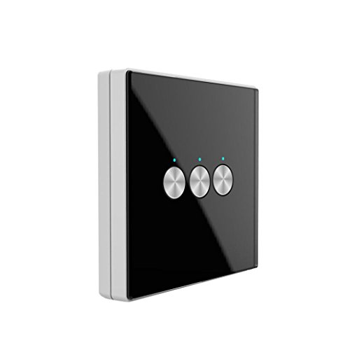 Nacome Wireless Wall Switch Lighting Control,3 x receivers,Remote Operation,Capacitive Glass Wireless Wall Switch (Black) by Nacome (Image #7)