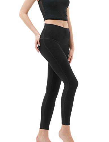 Large Product Image of TM-FYP52-BLK_Medium Tesla Yoga Pants High-Waist Tummy Control w Hidden Pocket FYP52