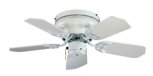 Royal Pacific Lighting 1064WW Royal Knight Hugger III 1063WW, 5 Blade Transitional Ceiling Fan, 30 , White