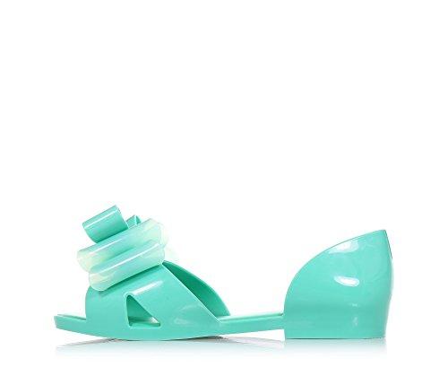 MINI MELISSA - Sandale Seduction II bleu-vert, made in Brazil, complètement réalisée en plastique MELFLEX, Fille, Filles