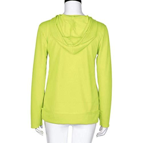 Chemisier poches Hiver Lettre Pull Manteau Sweat Tops Chemise taille avec Mode Grande Zhrui Pullover Couleur Vert Vert manches Automne capuche à Femmes Imprimé longues Amour à AxxqnZ8Hw