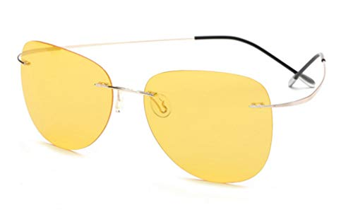Dedicated Glasses Unisex de Light Gafas Driving Verde Sol XIYANG Frameless Polarized Ultra Green Fishing znaqvB