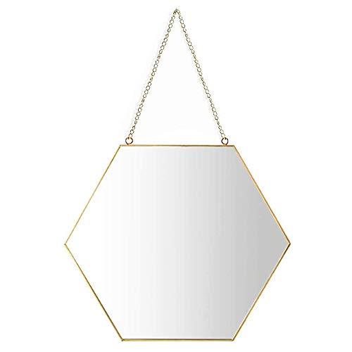 GAOJRDM Hexagon Mirror Wall Mirrors, Handcrafted Bathroom Mirror Faceted Mirror Vintage Decoration, -