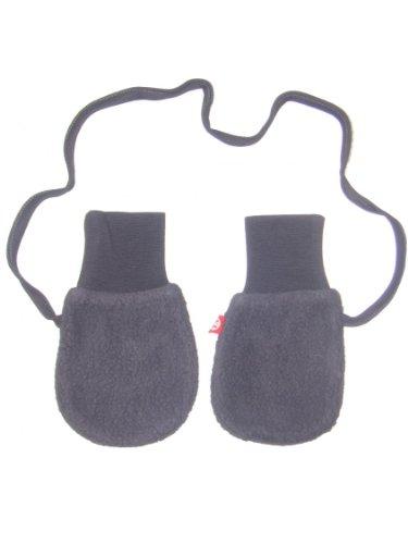 Zutano Unisex Baby Cozie Fleece Mittens W/String - Navy - One Size
