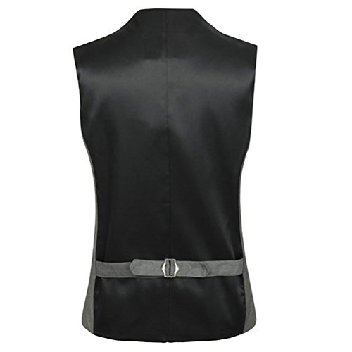 Sleeveless Moda Blazer Skinny Vest Mens Tops Soft Suit Dress Formal Vest Zhhlaixing gris suave zwdqFzZ