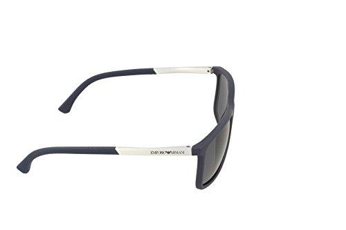 Emporio Armani Unisex Sonnenbrille, Blau (Blue Rubber 547487), Large (Herstellergröße: 58) 3