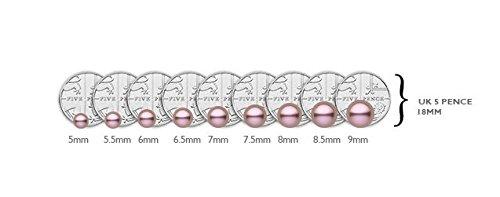 Kimura Pearls - EN0005 - 301 - Boucles d'Oreilles Pendantes Femme - Or blanc 375/1000 (9 cts) 1.08 Gr - Perles d'eau douce