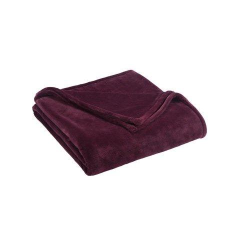 Vellux Sheared Mink King Blanket, Wine
