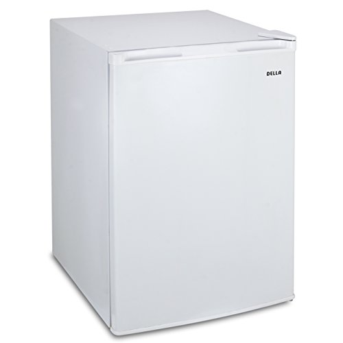 Della 4.5 cu. ft Single Reversible Door, Fridge Refrigerator Freezer Ice, White by DELLA