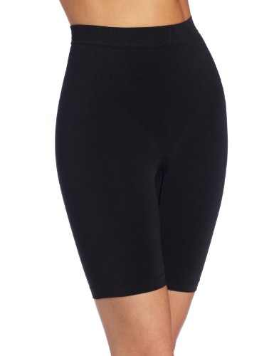 (Maidenform Women's Shine Collection Thigh Slimmer, Black, Medium)