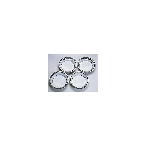 Eckler's Premier Quality Products 25-121442 - Corvette Rally Wheel Trim Rings Stainless Steel
