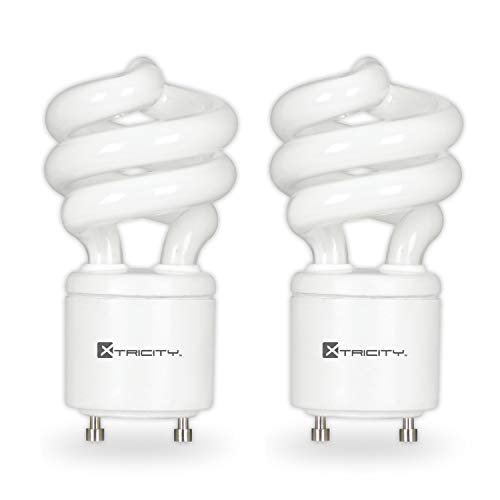 Compact Fluorescent Light Bulb T2 Spiral CFL, GU24 Base, 2700k Soft White, 13W (60 Watt Equivalent), 900 Lumens, 120V, UL Listed (2 Pack)