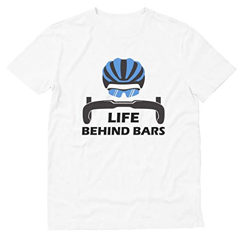 Life Behind Bars - Best Gift for Bicycle Riders Funny Bike Cycling T-Shirt Large -