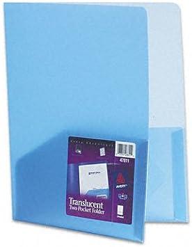 Polypropylene Pocket Portfolio Set of 4 Unit of Measure Individual