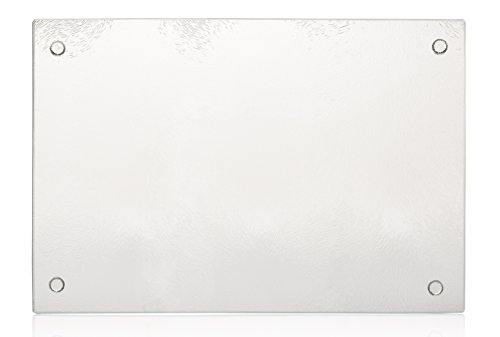 "MONOINSIDE Tempered Glass Kitchen Chopping Cutting Carving Board, Solid Surface Kitchen Counter Protector, 11"" x 7.5"", Affordable Wedding Registry Idea by MONOINSIDE"