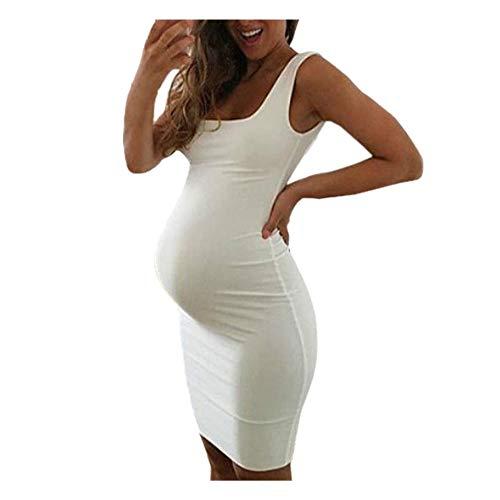 QinMM Vestido sin Mangas para Mujeres Embarazadas, Mini Vestido sin Mangas Premamá Maternidad: Amazon.es: Ropa y accesorios