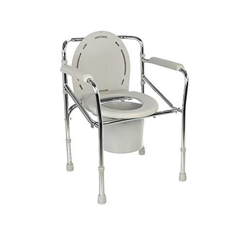 XSJZ Mobile Toilet, Foldable and Convenient with Armrest Toilet Suitable for Elderly Maternity Side Chair
