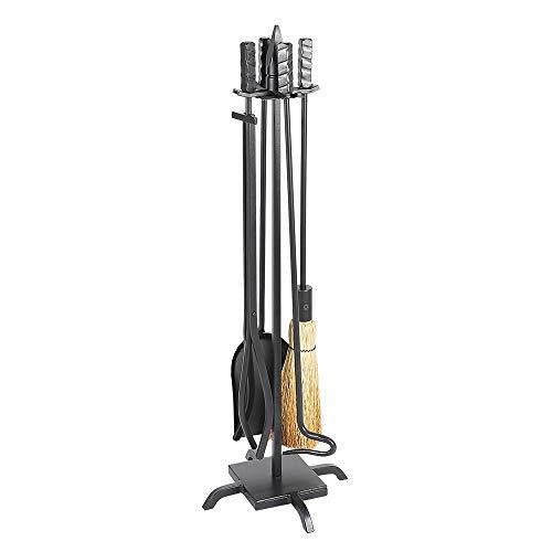(Minuteman International Wright Design 5-piece Wrought Iron Fireplace Tool Set,)