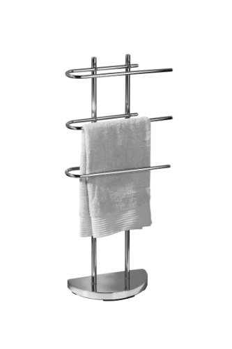 Premier Housewares Floor Standing Towel Stand With 3 U-shaped Arms - - 3 Holder Arm Towel Stand