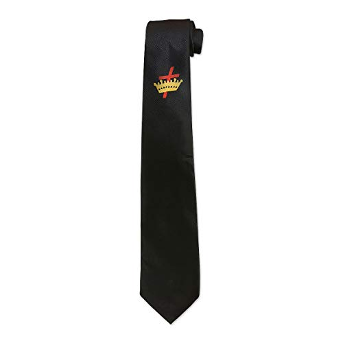 Knights Templar Black Satin Masonic Neck Tie