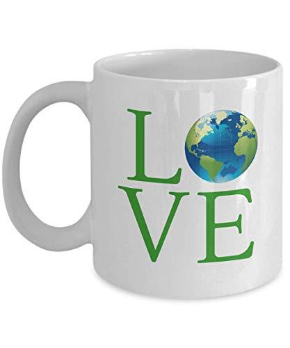 Love Planet Earth Coffee Mug Gift - Global Warming Climate Change Mug for Environmentalists