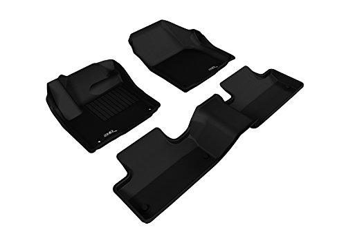 3D MAXpider Complete Set Custom Fit All-Weather Floor Mat for Select Land Rover Range Rover Evoque Models - Kagu Rubber (Gray)
