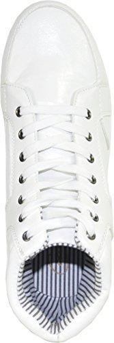Coronado Heren Casual Schoen Gatsby-6 Sneaker Laars Comfort Zacht Met Een Moc Teenwit 6m