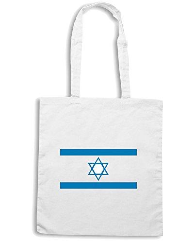 T-Shirtshock - Borsa Shopping TM0200 Israel flag Bianco