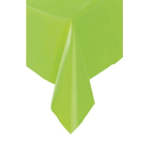Lime Green - Plastic Table Cover by Table Covers Partyrama 5098UNQ-tcobl-E