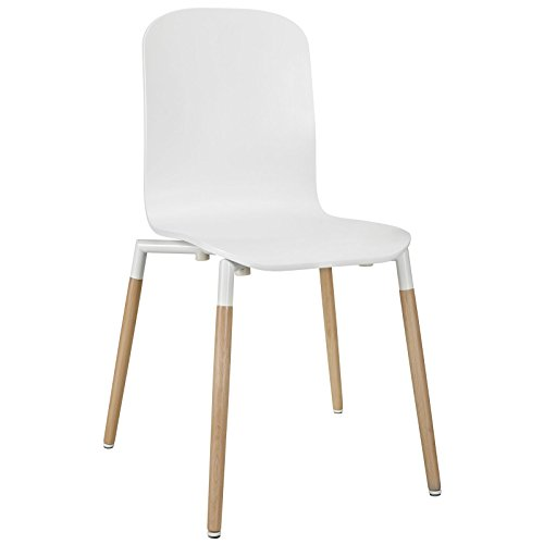 Modern Contemporary Wood Dining Chair White by America Luxury - Chairs