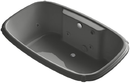 UPC 087206859212, KOHLER K-1457-H2-58 Portrait 67-Inch X 42-Inch Drop-In Whirlpool Bath with Reversible Drain and Heater and without Trim, Thunder Grey