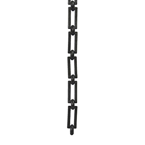 Greek Key 1 Light (RCH Hardware CH-18-OBB-3 Decorative Oil Bronzed Black Solid Brass Chain for Hanging, Lighting - Rectangles with Greek Key Design and Unwelded Links (3 ft/1 Yard))