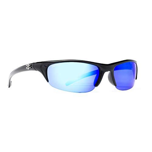 Calcutta Bermuda Sunglasses (Black Frame, Blue Mirror Lens)
