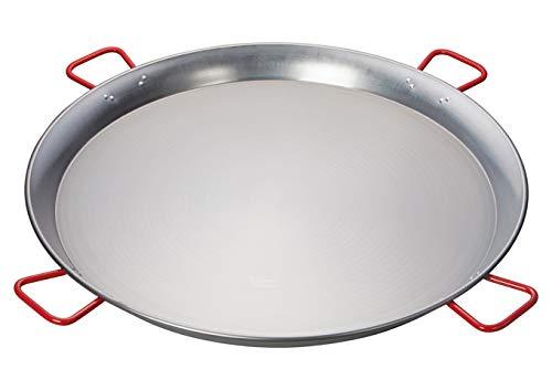 Winco CSPP-35, 35-1/2'' Paella Pan, Polished Carbon Steel Spanish Mediterranean Food