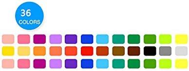 Refaxi まばゆいばかりのカラーロッド水溶性回転ブラシクレヨン油絵の棒子供の絵画棒学生の文房具(ブラシ36色22.5 * 4.2 CM)