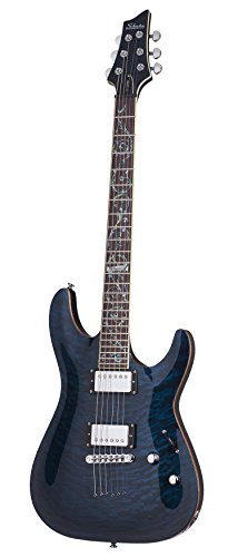 Schecter 239 Solid-Body Electric Guitar, See-Through Blue