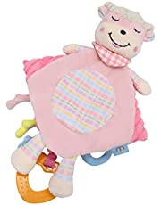 NUOBESTY Security Blanket Appease Toy Activity Blanket Sensory Toy Baby Newborns Baby Infant Gifts Toy (Sheep)