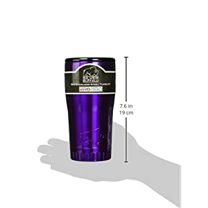 Silver Buffalo NL1005950 Stainless Steel Travel Tumbler, 20-Ounces, Purple