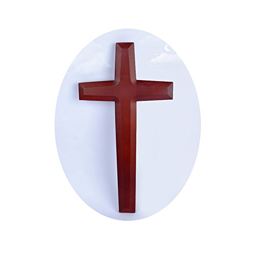 [해외]우드 크로스 (예수 크로스) 기독교 장식가톨릭 장식품 【 21.8 x42cm (8.5 x 16.5 인치) 】 벽 장식 크리스마스 선물 크리스마스 이브 선물예수벽 매달려 기독교 선물 부활절 선물 / Wood Cross (Jesus Cross) Christian DecorationCatholic Ornamen...