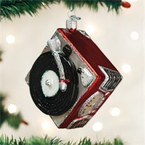 (Old World Christmas Glass Blown Ornament Record Player (38043))