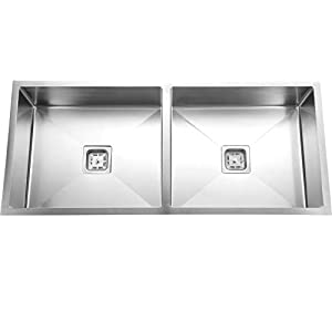 SILVER LINE Handmade 304 Grade Kitchen Sink Size :- 45″ x 20″ x 9″ Double Bowl