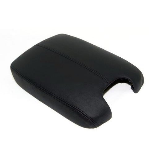 Ezzy Auto Black Leather Suture Console Lid Armrest Cover for 2008 2009 2010 2011 2012 Honda Accord Armrest Cover(Only The Leather Part not include Lid)