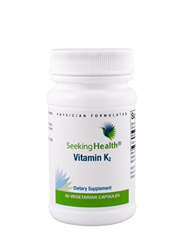 Vitamin K2   50 mcg Natural MK-7   60 Vegetarian Capsules   Seeking Health
